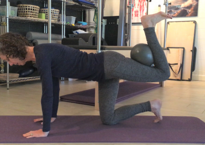 Hip extension with hamstring curl